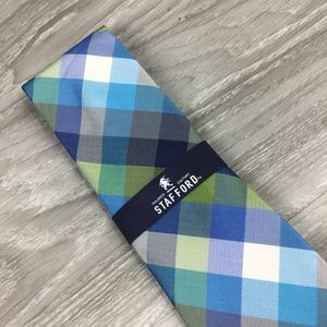 Stafford Multi Color Plaid Tie